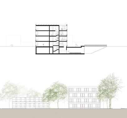 lutz buss architekten ag schulhaus wasgenring basel. Black Bedroom Furniture Sets. Home Design Ideas